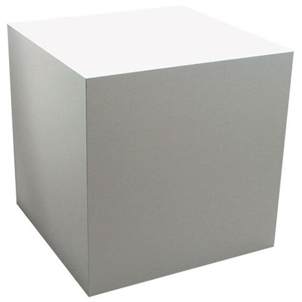 サイコロ六面体(白塗装)200mm角